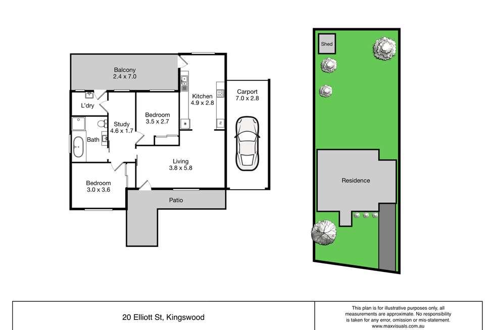 Floorplan of Homely house listing, 20 Elliott Street, Kingswood NSW 2747