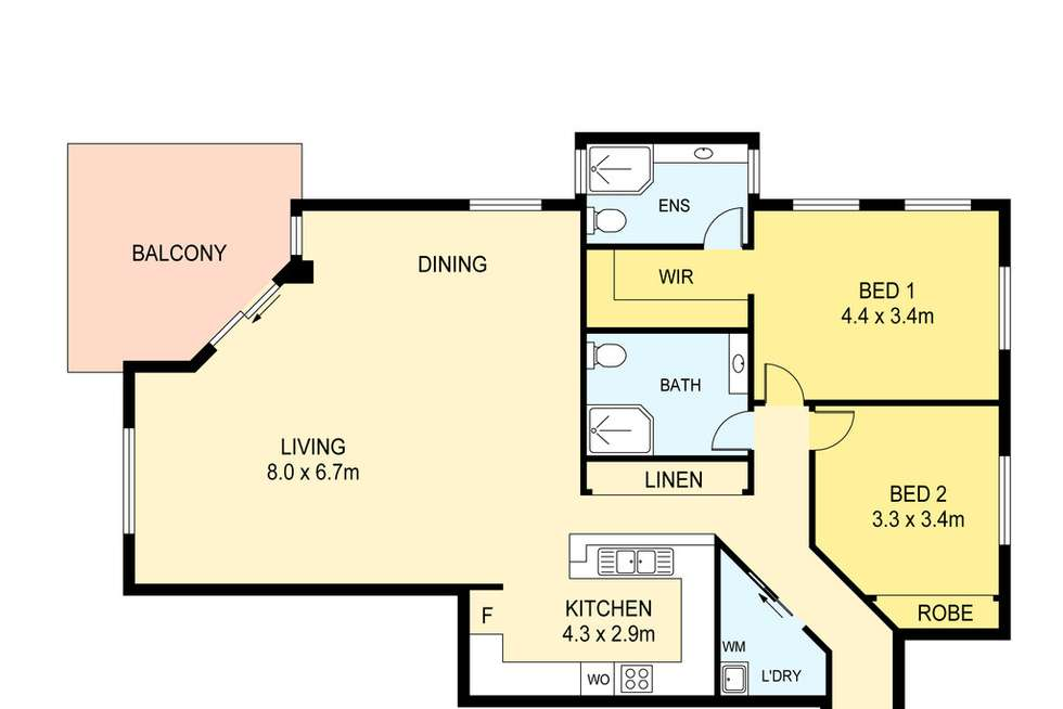 Floorplan of Homely unit listing, 1/3 Mangola Court, Larrakeyah NT 820