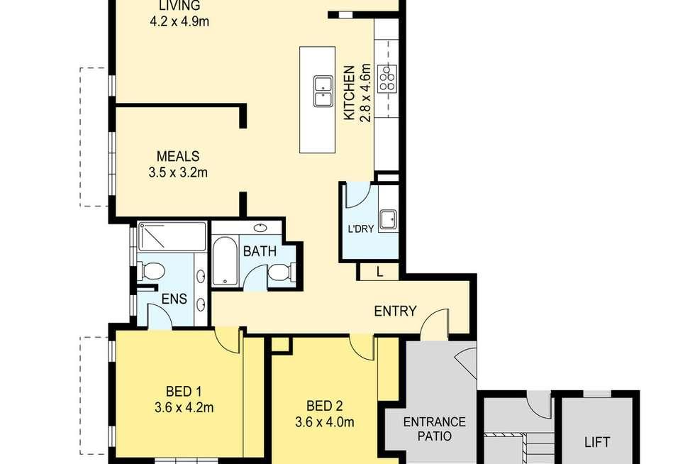Floorplan of Homely unit listing, 4/3 Warrego Court, Larrakeyah NT 820