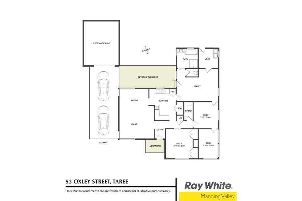 Floorplan of Homely house listing, 53 Oxley Street, Taree NSW 2430