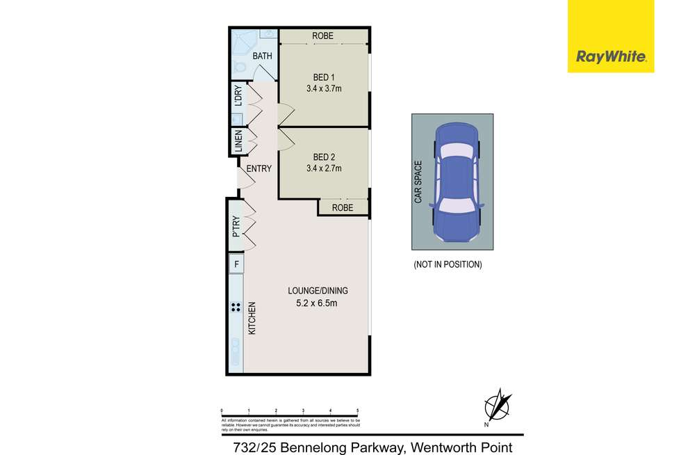 Floorplan of Homely apartment listing, 732/25 Bennelong Parkway, Wentworth Point NSW 2127
