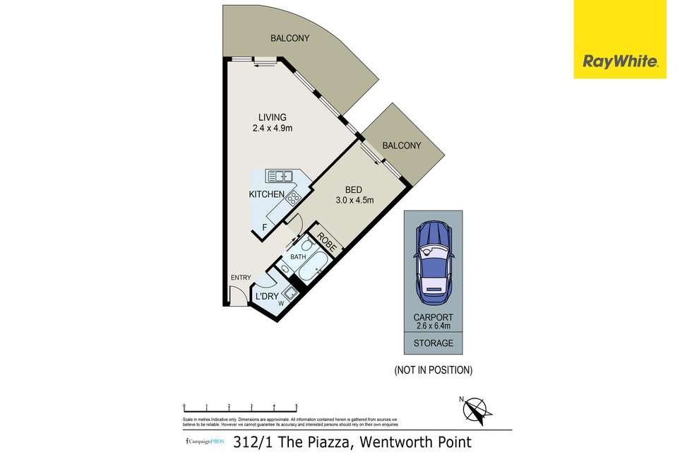 Floorplan of Homely apartment listing, 312/1 The Piazza, Wentworth Point NSW 2127