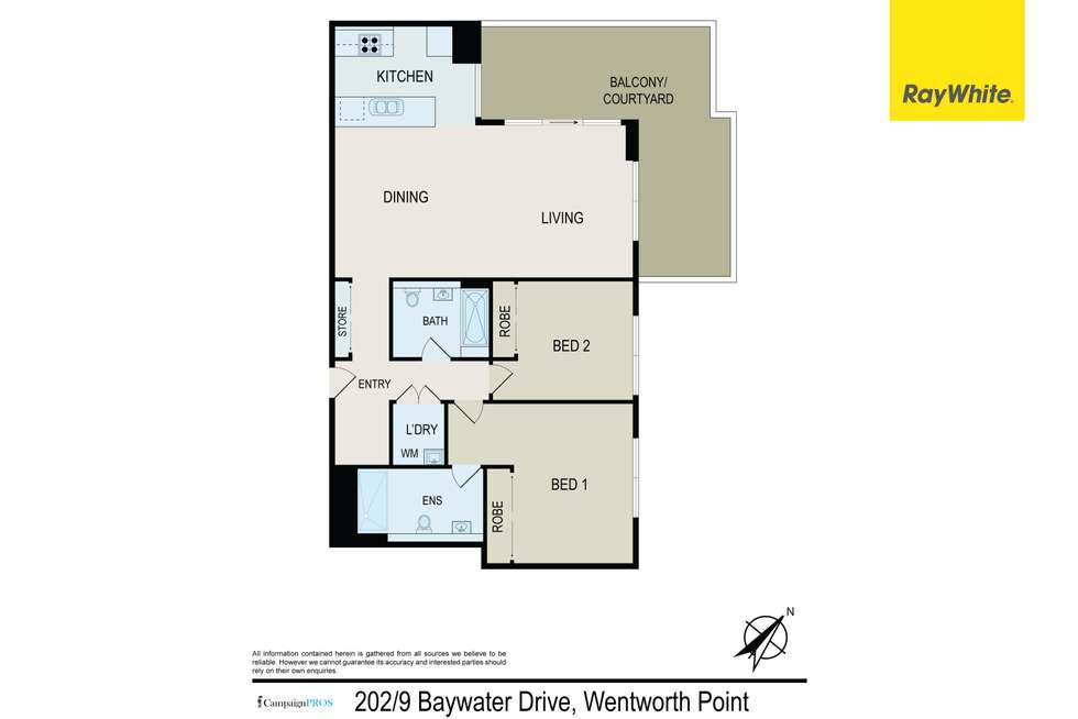 Floorplan of Homely apartment listing, 202/9 Baywater Drive, Wentworth Point NSW 2127