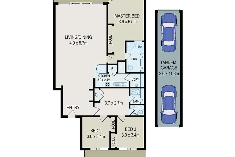 Floorplan of Homely apartment listing, 2/29 Bennelong Parkway, Wentworth Point NSW 2127
