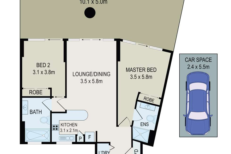 Floorplan of Homely apartment listing, 1/27 Bennelong Parkway, Wentworth Point NSW 2127