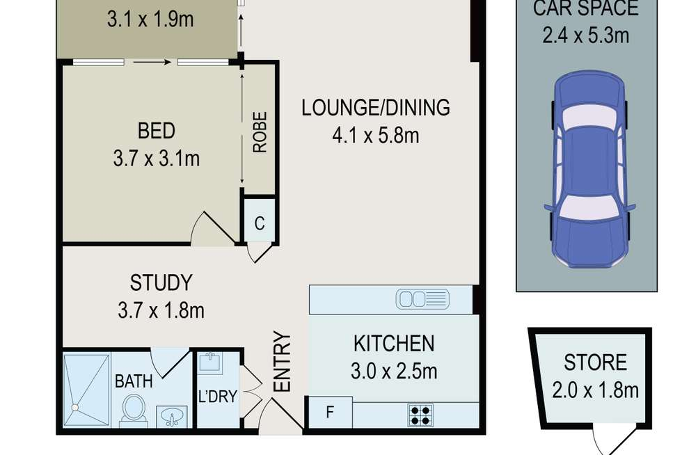 Floorplan of Homely apartment listing, 111/1 Avenue Of Europe, Newington NSW 2127