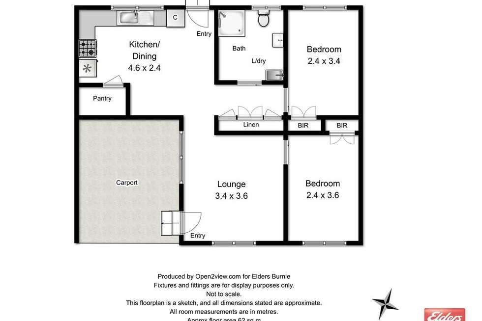Floorplan of Homely unit listing, 3/80A Saunders Street, Wynyard TAS 7325