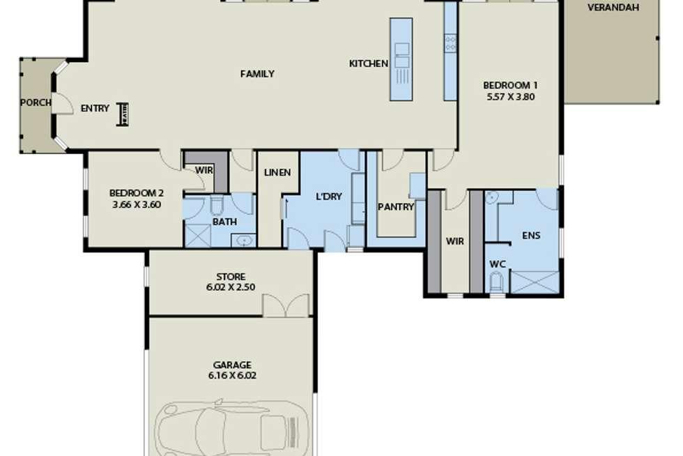 Floorplan of Homely house listing, 40 Wyralla Crescent, Gisborne VIC 3437