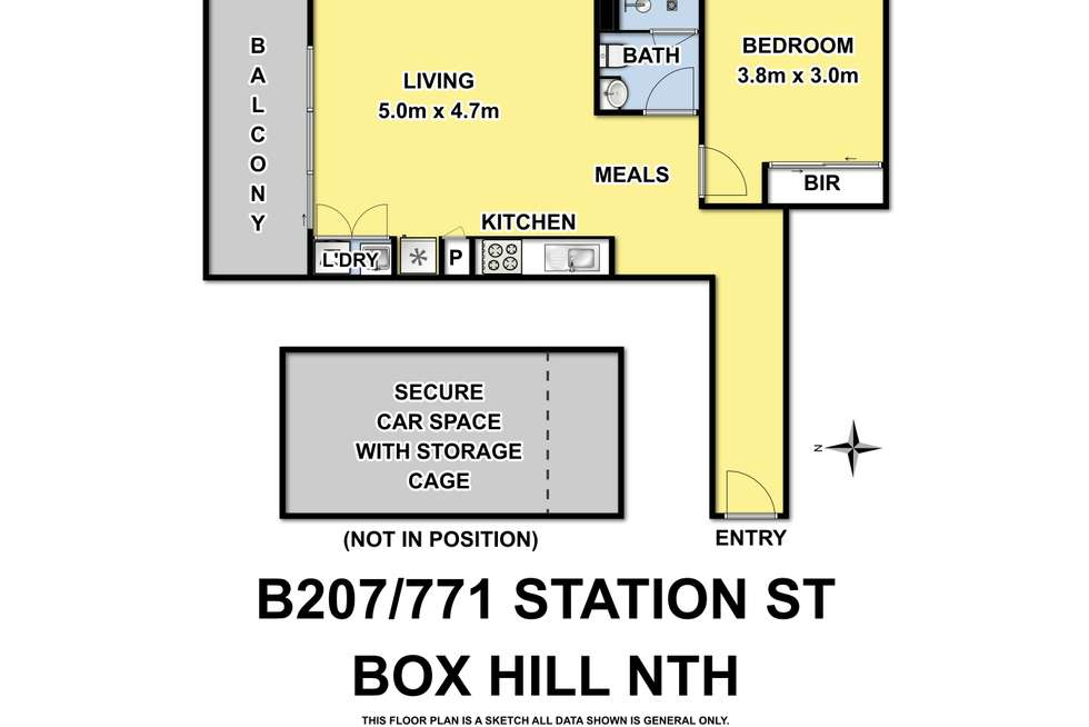 Floorplan of Homely apartment listing, B207/771 Station Street, Box Hill North VIC 3129
