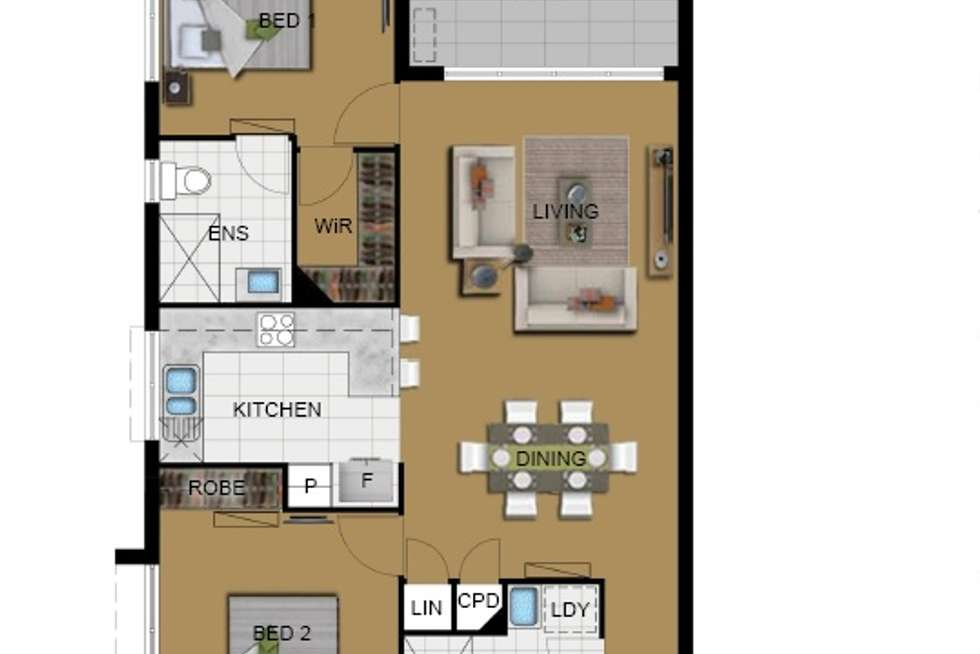 Floorplan of Homely apartment listing, 19 Talbot Street, Coorparoo QLD 4151