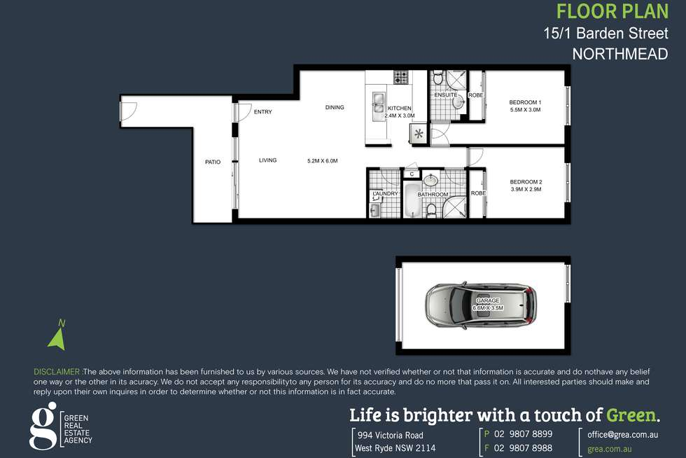 Floorplan of Homely unit listing, 15/1 Barden Street, Northmead NSW 2152