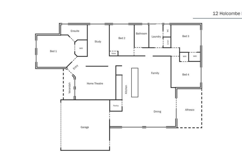 Floorplan of Homely house listing, 12 Holcombe Road, Warnbro WA 6169