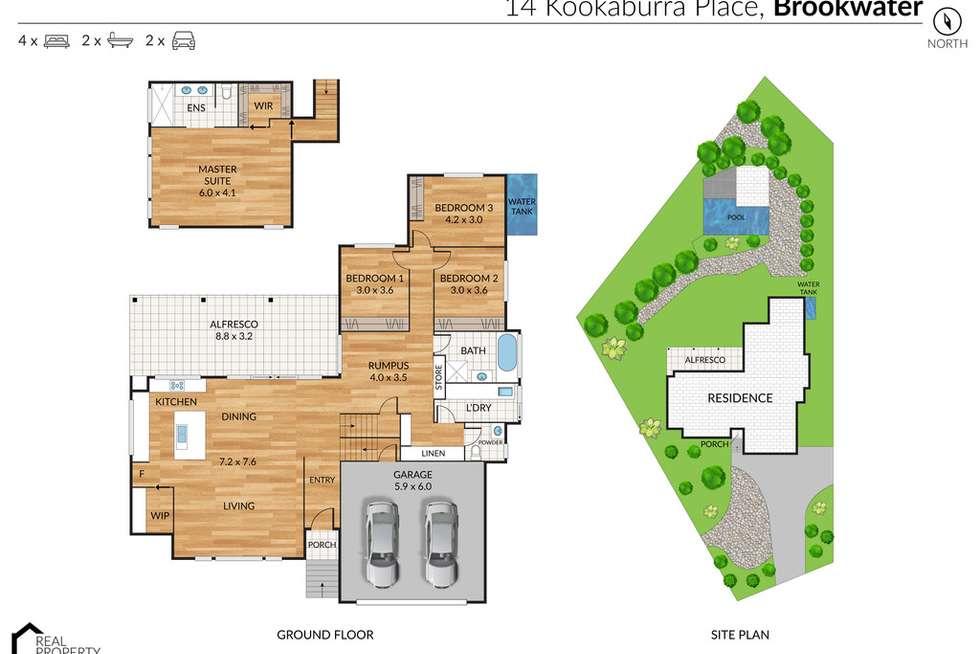 Floorplan of Homely house listing, 14 Kookaburra Place, Brookwater QLD 4300