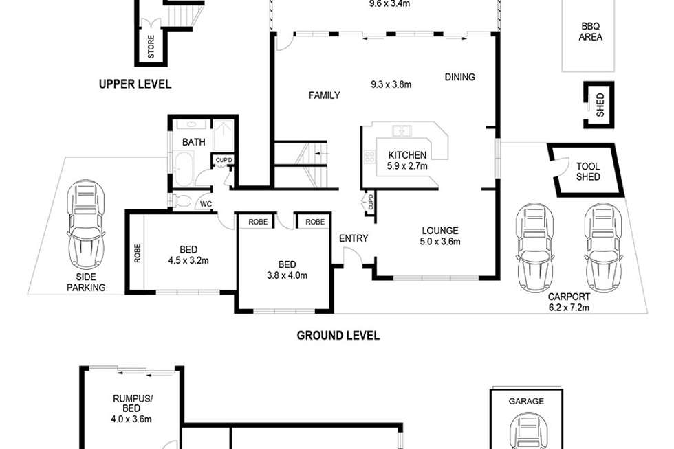 Floorplan of Homely house listing, 90 Lansdowne Parade, Oatley NSW 2223