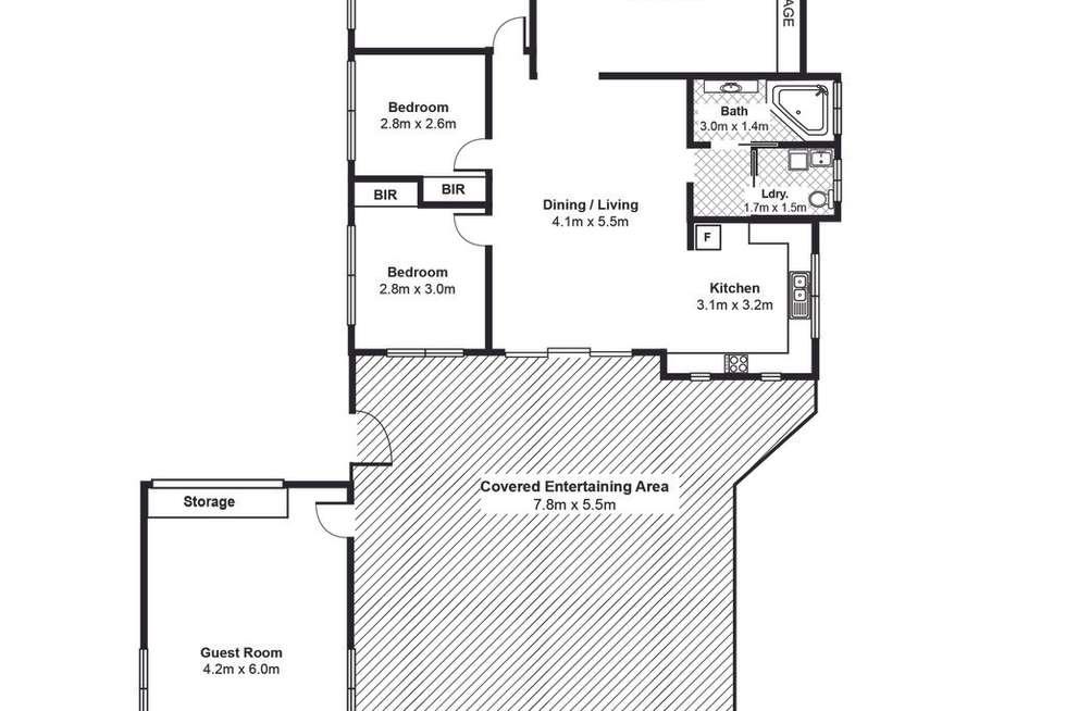 Floorplan of Homely house listing, 19 Dermal Street, Lake Tabourie NSW 2539