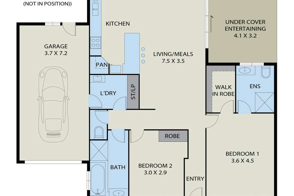 Floorplan of Homely house listing, Unit 2,176 Station Road, New Gisborne VIC 3438