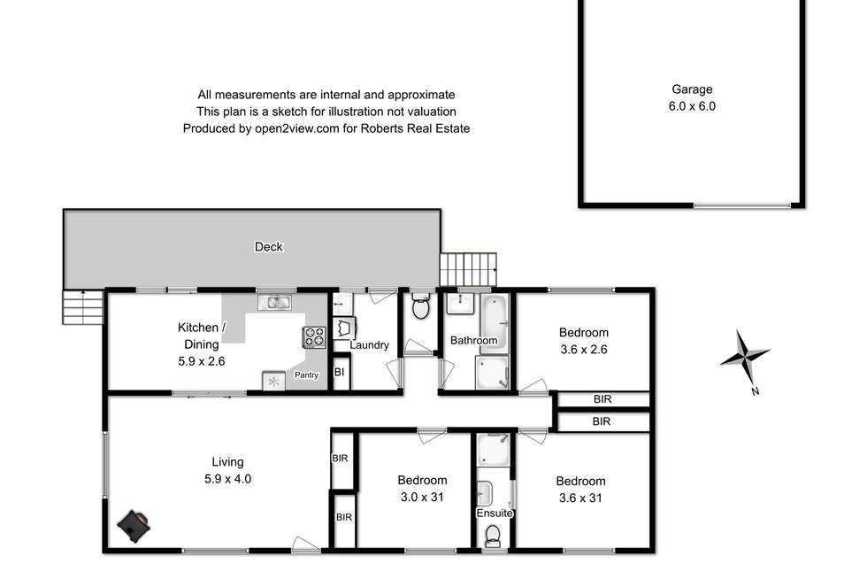 Floorplan of Homely house listing, 2 Meethenar Street, Carlton TAS 7173