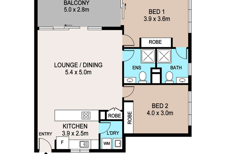 Floorplan of Homely apartment listing, 1201/79 Smith Street, Darwin City NT 800