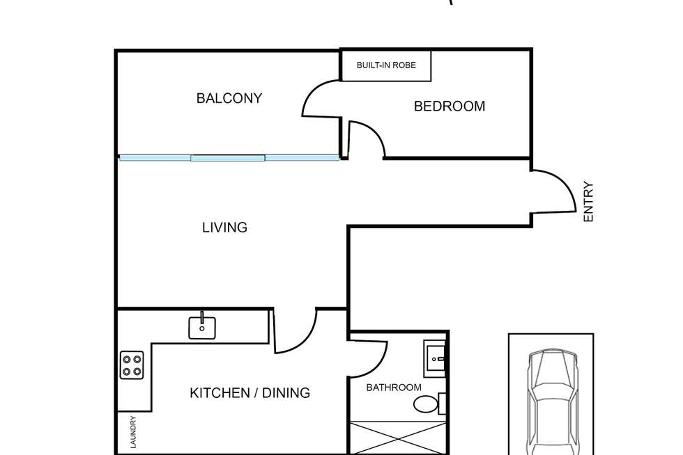 Floorplan of Homely apartment listing, 9/2 Young Street, Annandale NSW 2038