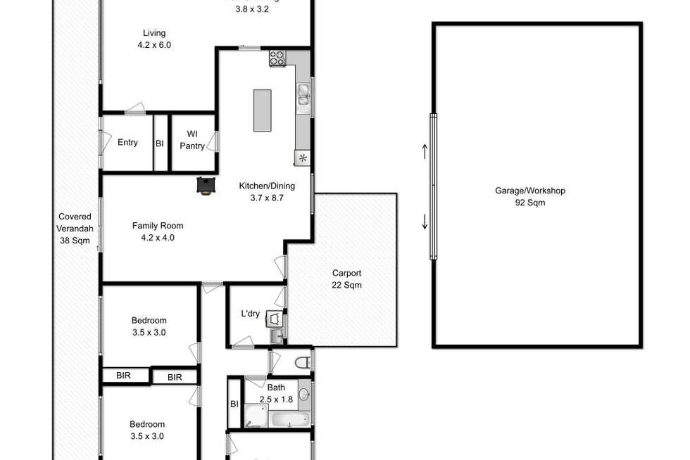 Floorplan of Homely house listing, 40 Thornton Drive, Orielton TAS 7172