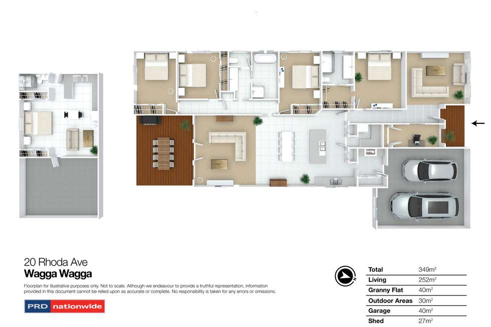 Floorplan of Homely house listing, 20 Rhoda Avenue, Wagga Wagga NSW 2650