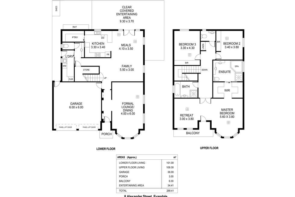 Floorplan of Homely house listing, 8 Alexander St, Evandale SA 5069