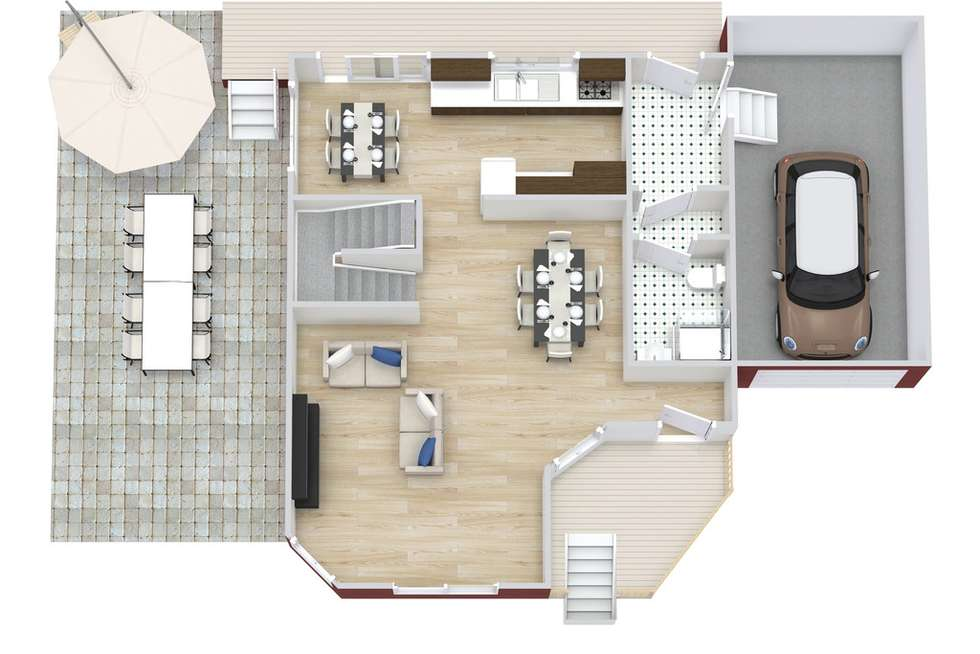 Floorplan of Homely townhouse listing, 3/55 CAMBRIDGE STREET, Carina Heights QLD 4152