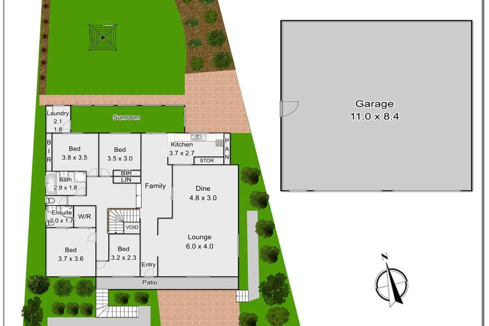 Floorplan of Homely house listing, 10 Dorlton Street, Kings Langley NSW 2147