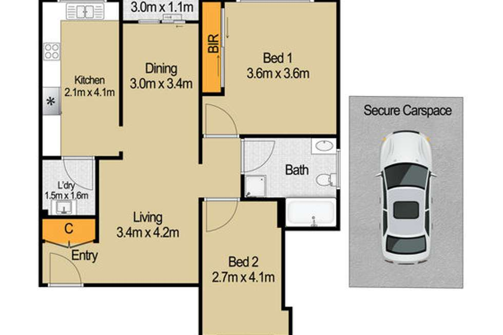 Floorplan of Homely unit listing, 2/26 High Street, Granville NSW 2142