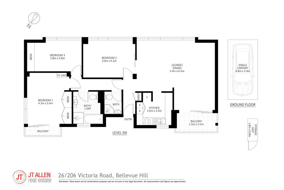 Floorplan of Homely apartment listing, 26/206 Victoria Road, Bellevue Hill NSW 2023