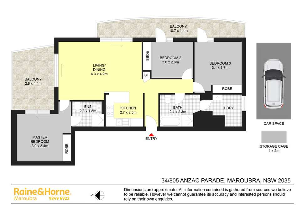 Floorplan of Homely apartment listing, 34/805 ANZAC PARADE, Maroubra NSW 2035