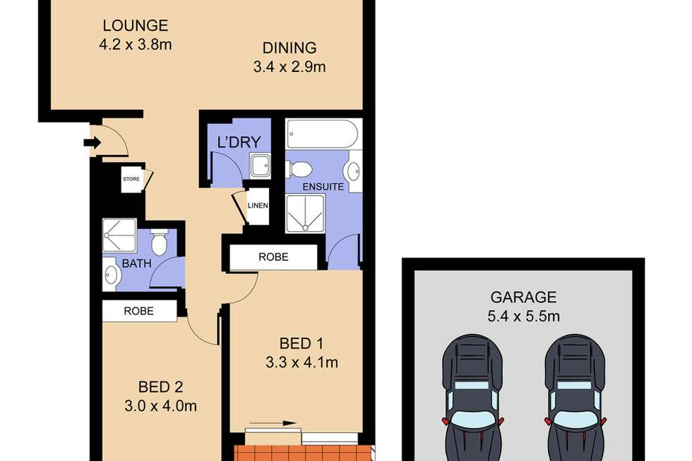 Floorplan of Homely unit listing, 149/18-20 Knocklayde Street, Ashfield NSW 2131