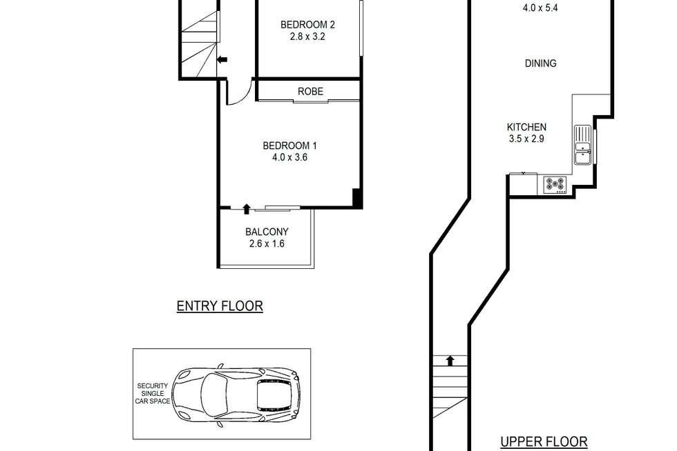 Floorplan of Homely unit listing, 27/403 Liverpool Road, Ashfield NSW 2131