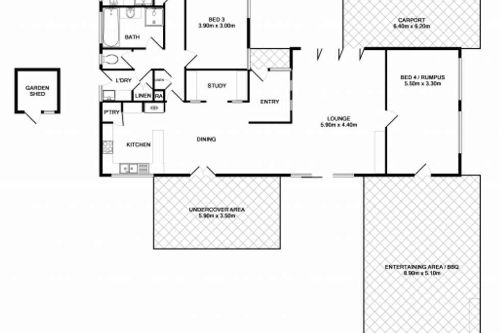 Floorplan of Homely house listing, 14 Sans Souci Drive, Wodonga VIC 3690