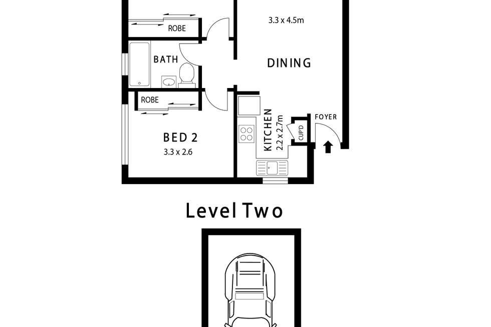 Floorplan of Homely unit listing, 9/5 Henry Street, Ashfield NSW 2131