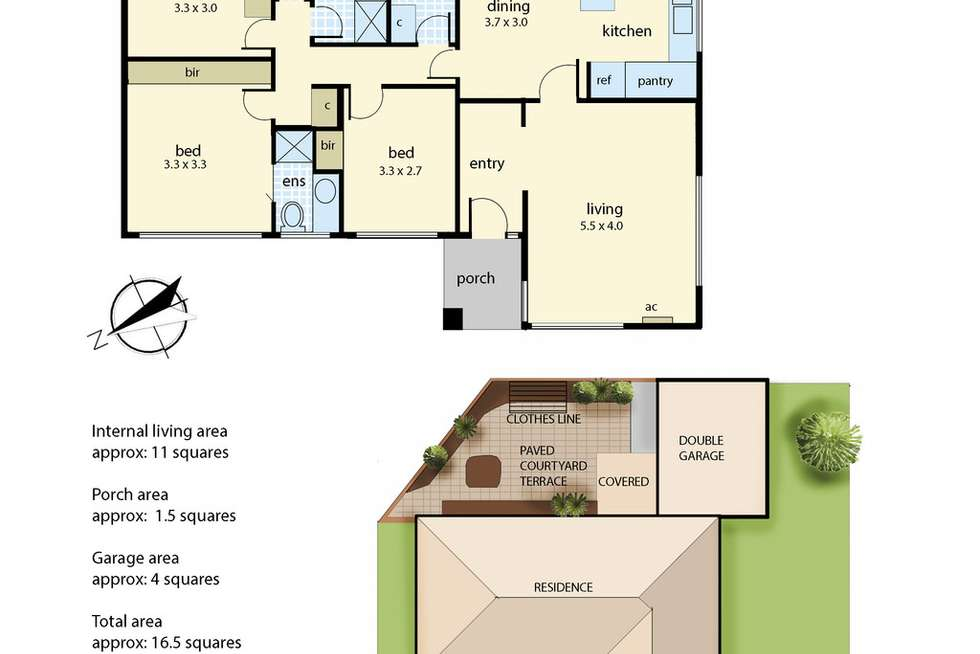 Floorplan of Homely unit listing, 8 Pace Crescent, Chelsea VIC 3196