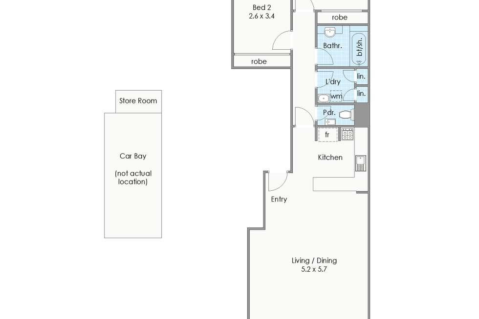 Floorplan of Homely apartment listing, 52/118 Mounts Bay Road, Perth WA 6000