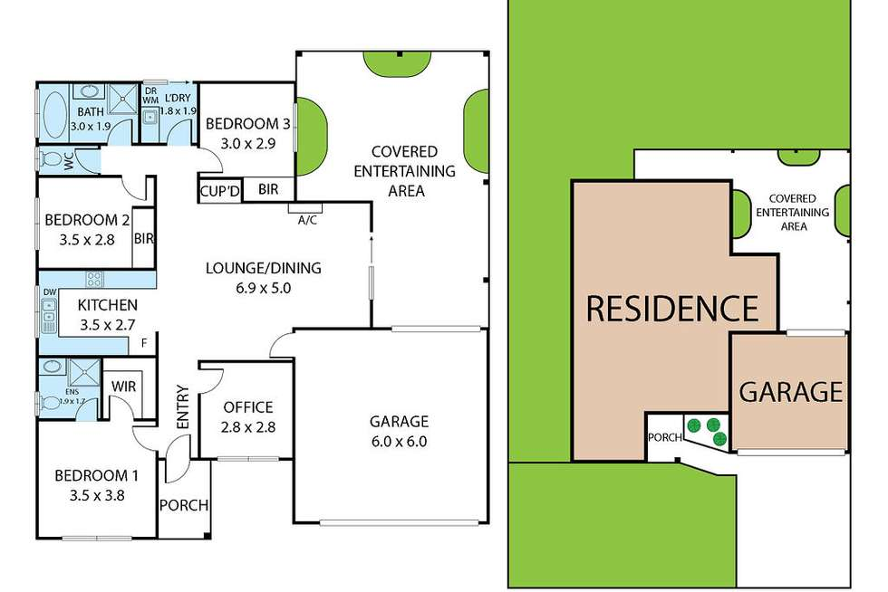 Floorplan of Homely house listing, 29 Vincent Blvd, Trafalgar VIC 3824