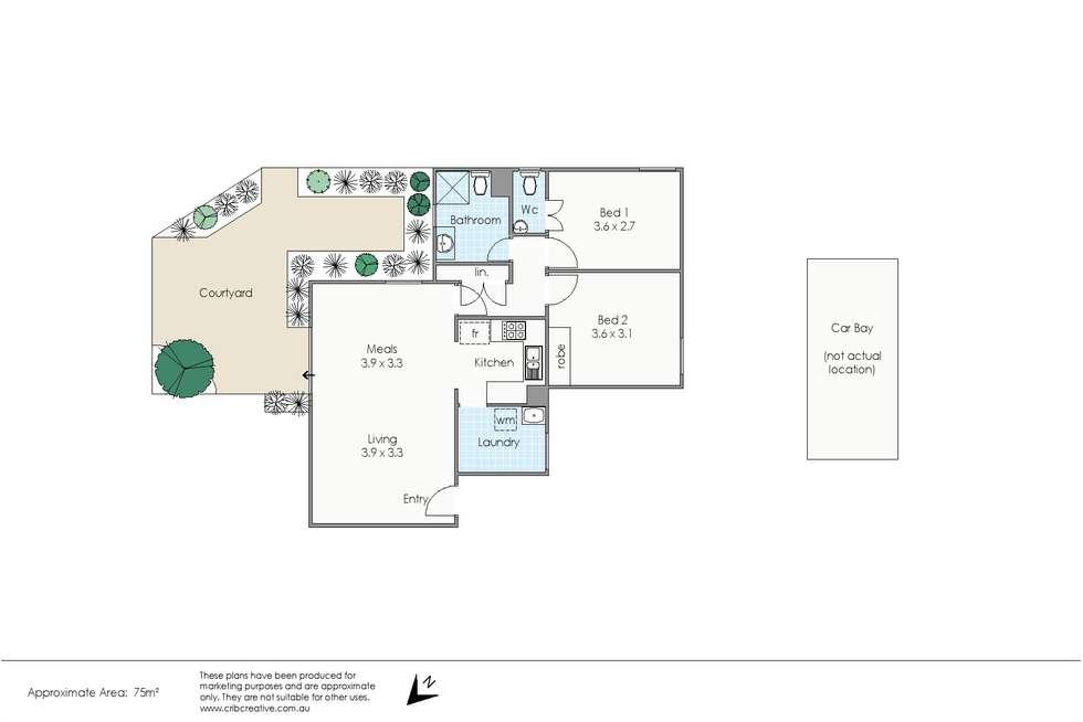 Floorplan of Homely apartment listing, 1a/3 Cullen Street, Shenton Park WA 6008