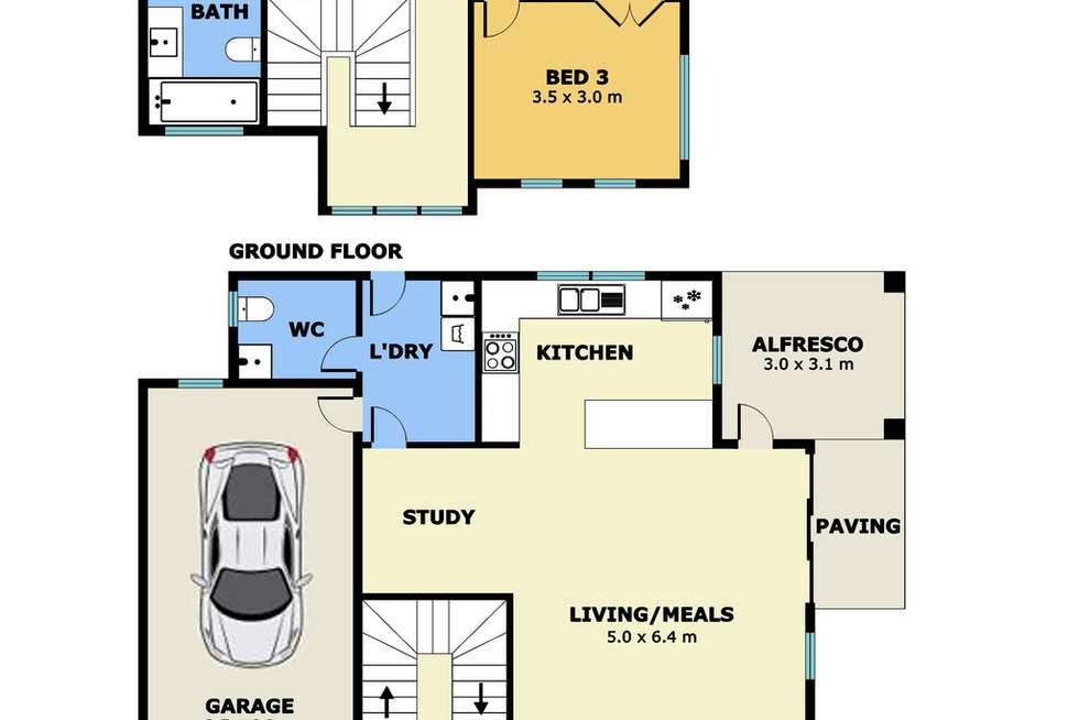 Floorplan of Homely house listing, 1/128 Alma Avenue, Laverton VIC 3028