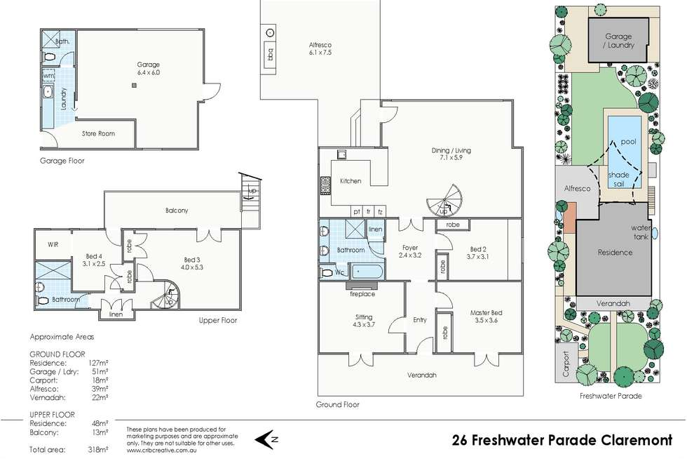 Floorplan of Homely house listing, 26 Freshwater Parade, Claremont WA 6010