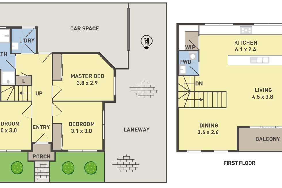 Floorplan of Homely house listing, 14 Clarke Street, Northcote VIC 3070
