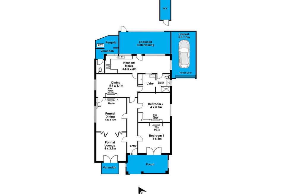 Floorplan of Homely house listing, 64 Port Road, Alberton SA 5014
