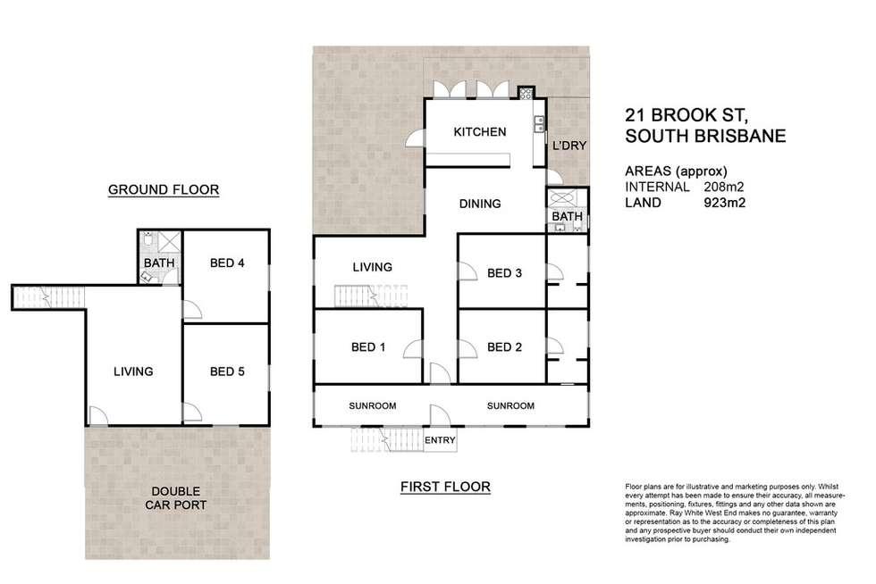 Floorplan of Homely house listing, 21 Brook Street, South Brisbane QLD 4101