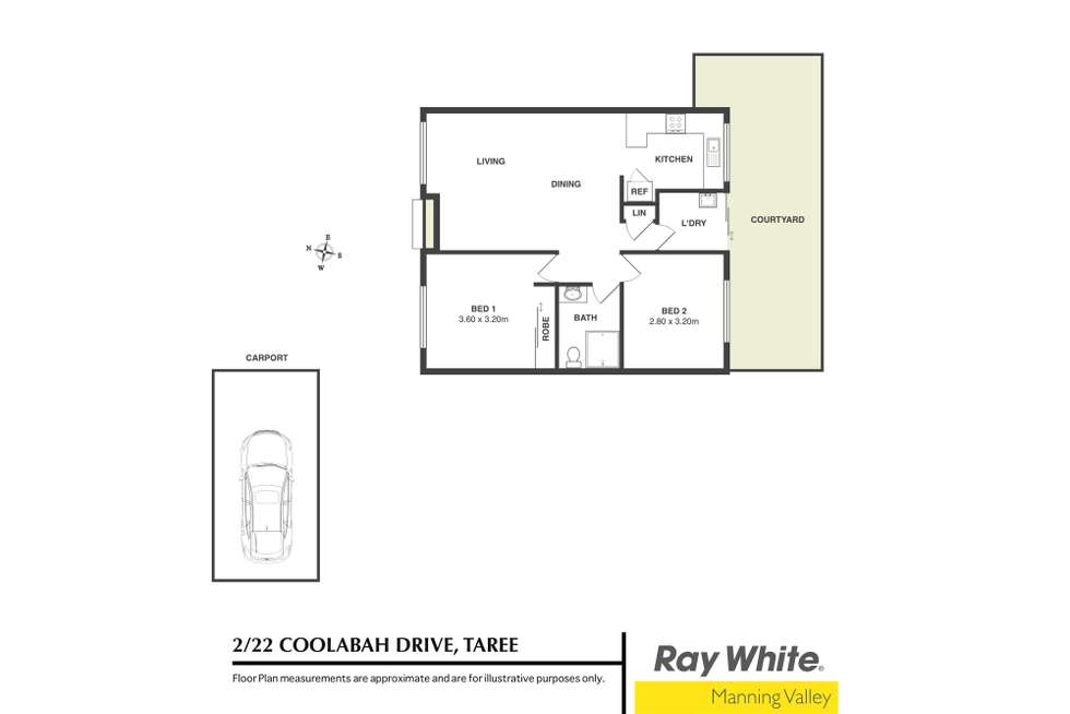 Floorplan of Homely unit listing, 2/22 Coolabah Drive, Taree NSW 2430