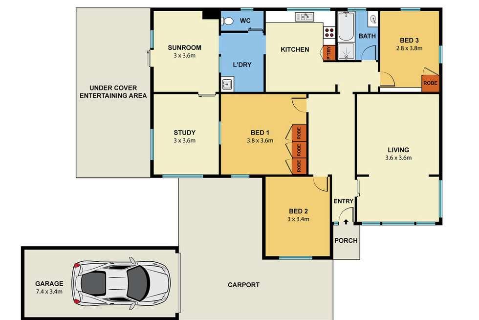 Floorplan of Homely house listing, 125 Bladin Street, Laverton VIC 3028