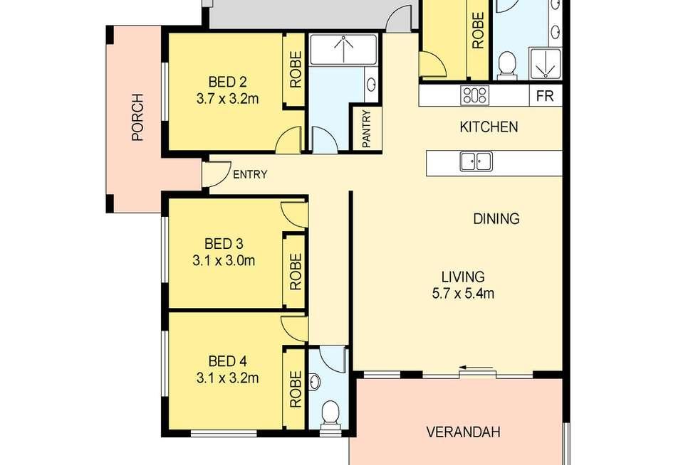 Floorplan of Homely unit listing, 1/22 Dorling Street, Muirhead NT 810