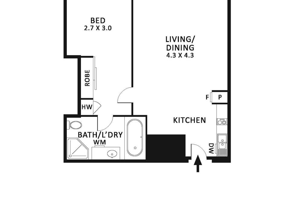 Floorplan of Homely apartment listing, 807/394 Collins Street, Melbourne VIC 3000