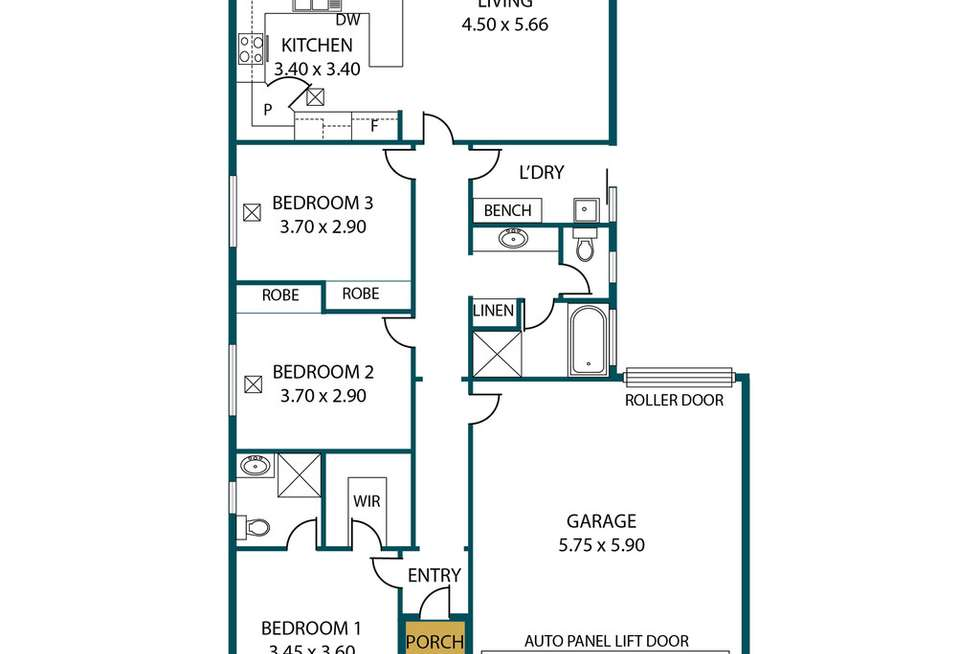 Floorplan of Homely house listing, 26 Liebrooke Boulevard, Blakeview SA 5114