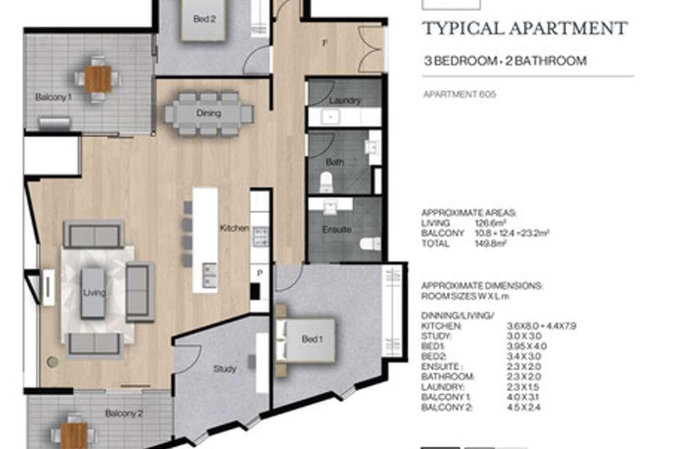 Floorplan of Homely apartment listing, 605/1 George Street, Parkside SA 5063